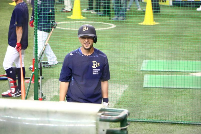 京セラドーム練習見学中島選手