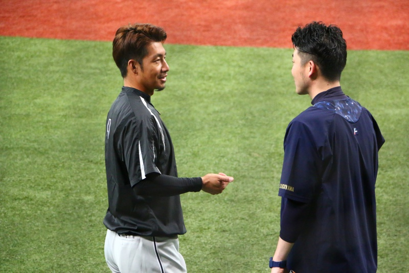 京セラドーム練習見学鳥谷選手