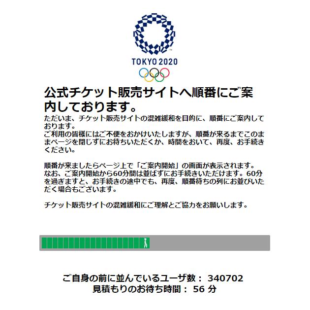 オリンピック観戦チケット当選発表